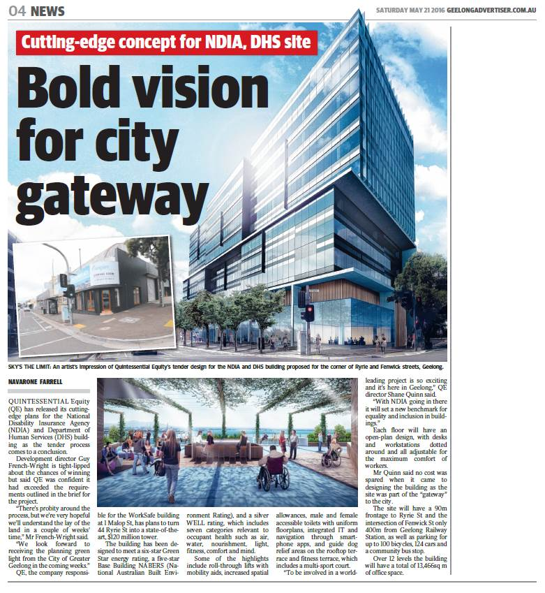Cutting-edge concept for NDIA, DHS site - Bold vision for city gatewayBold Vision